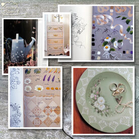 "Projects from ""Daisy Collection"" decorative art how-to book"